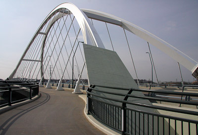 Lowry Bridge with Bike Path over Mississippi River