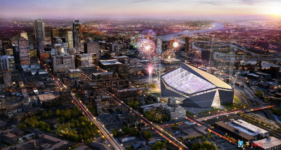 New Vikings Stadium Downtown Plan, courtesy Minnesota Vikings®